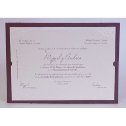 Invitacion de boda Caín