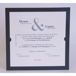 Invitacion de boda Guache