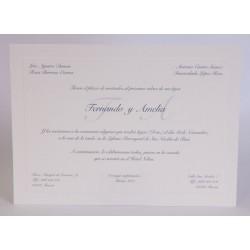 Invitacion de boda Nosotros