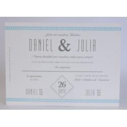 Invitacion de boda Dafne