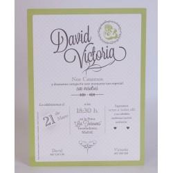 Invitacion de boda Piscina