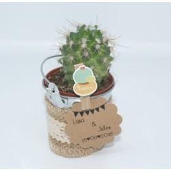 Cactus boda vintage