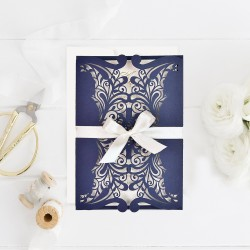 Invitacion de boda portada troquel colores