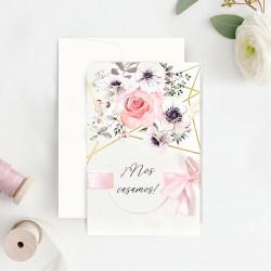 Invitacion de boda flores portada