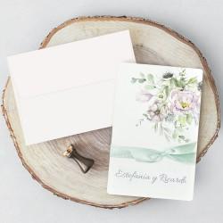 Invitacion de boda flores elegantes