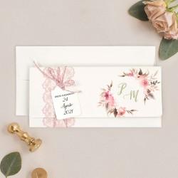 Invitacion de boda calendario foto