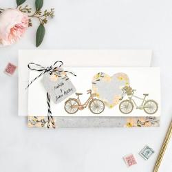 Invitacion de boda bicis con foto