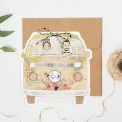 Invitacion de boda furgoneta 2