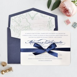 Invitacion de boda tarjeton lazo