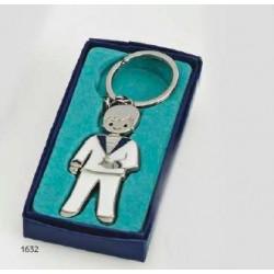 Llavero niño comunión marinero c. c/caja regalo azul.