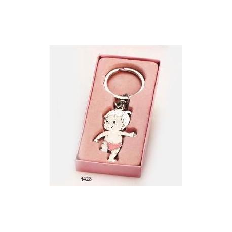 Llavero bebé niña pañal rosa