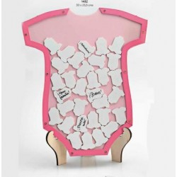 Trajecito de deseos bebé rosa