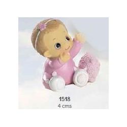 Bebé niña rosa diadema
