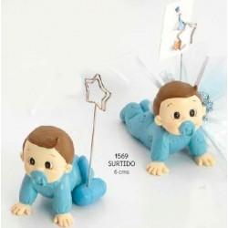 Sujeta-tarjetas bebé niño gateando