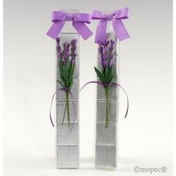 Estuche 6 napolitanas flor lavanda