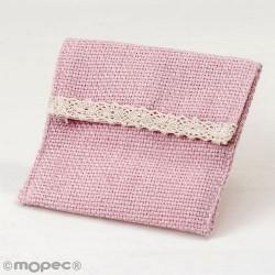 Bolsita rosa con velcro