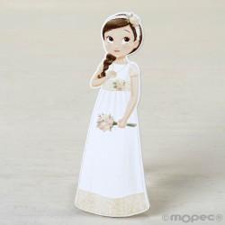 Figura 2D adhesiva niña Comunión romántica, 11cm. min.6