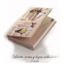 Librito notas y hojas adhesivas chicas ciudades