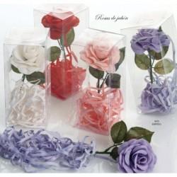 Flor de jabón con tiras de jabón c/caja surtida