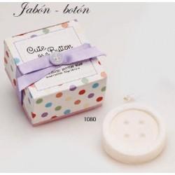 Jabón botón c/caja de regalo