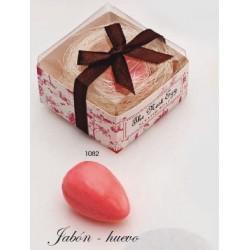 Jabón huevo nido c/caja de regalo