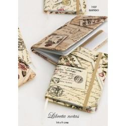 Libreta de notas elegante postales stdo. 14x9 cms