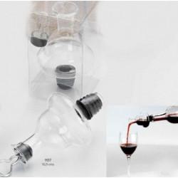 Vertidor-tapón-decantador de vino cristal c/caja