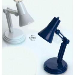 Linterna flexo c/pinza libro stda. c/caja regalo plateada. 12 cms