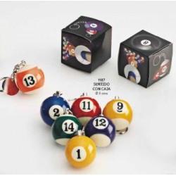 Llavero bola de billar c/caja regalo
