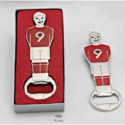 Abrebotellas futbolín c/caja de regalo. 11 cms