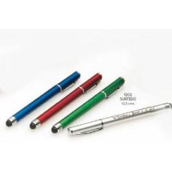Bolígrafo colores c/puntero táctil surtido. 12,5 cms