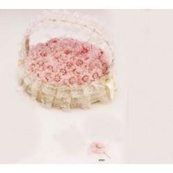 Aguja flor rosa perlitas (bolsa 24 uds.)