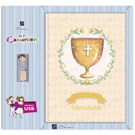 Libro de firmas + USB  caliz