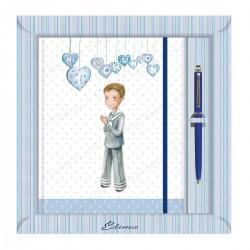 Diario comunion niño corazones