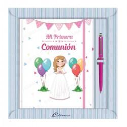Diario comunion niña globos
