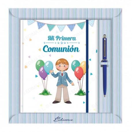 Diario comunion niño globos