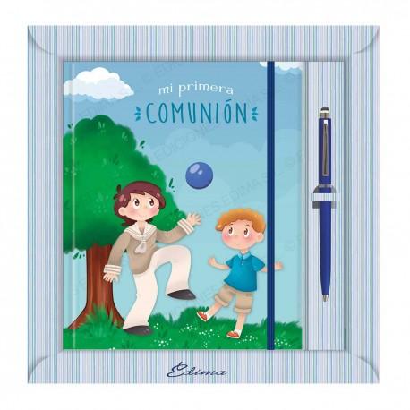Diario comunion niños balon