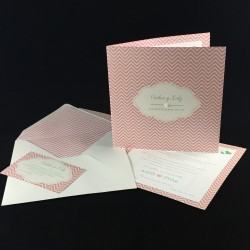 Invitacion de Boda corner rosa con perla