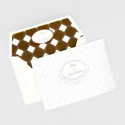 Invitacion de boda elegante cuadricula