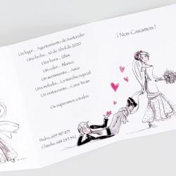 Invitacion de boda novia agarra novio