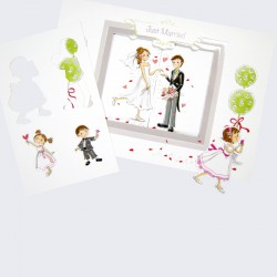 Invitacion de boda novios Just Married