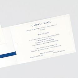 Invitacion de boda lazo azul marino
