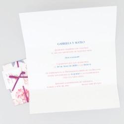 Invitacion de boda rosas y hortensia