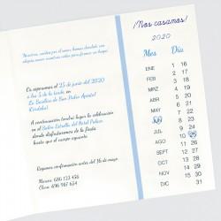 Invitacion de boda almanaque