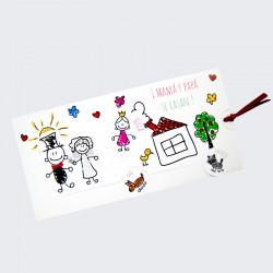 Invitacion de boda mama y papa se casan dibujo