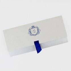 Invitacion de boda azul marino