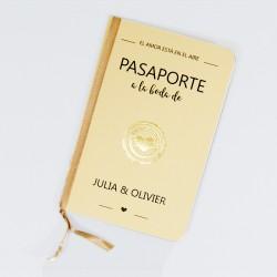 Invitacion de boda pasaporte a la boda
