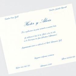 Invitacion de boda tarjeton papel natural