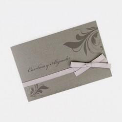 Invitacion de boda portada grafito con tarjetas
