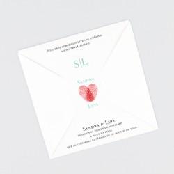 Invitacion de boda huellas dactilares